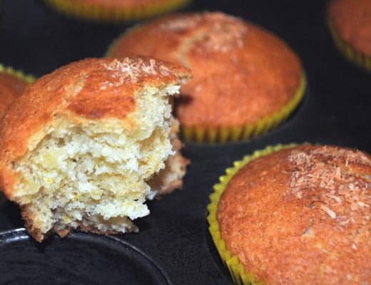 Muffin cocco e arancia vegani