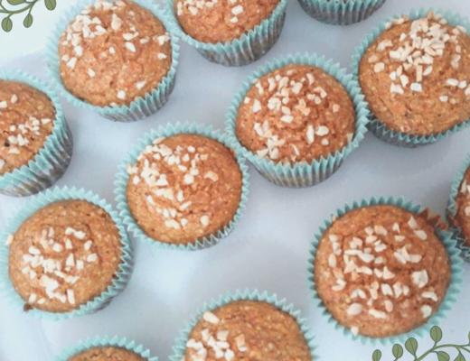 muffin alle mandorle e carote senza uova