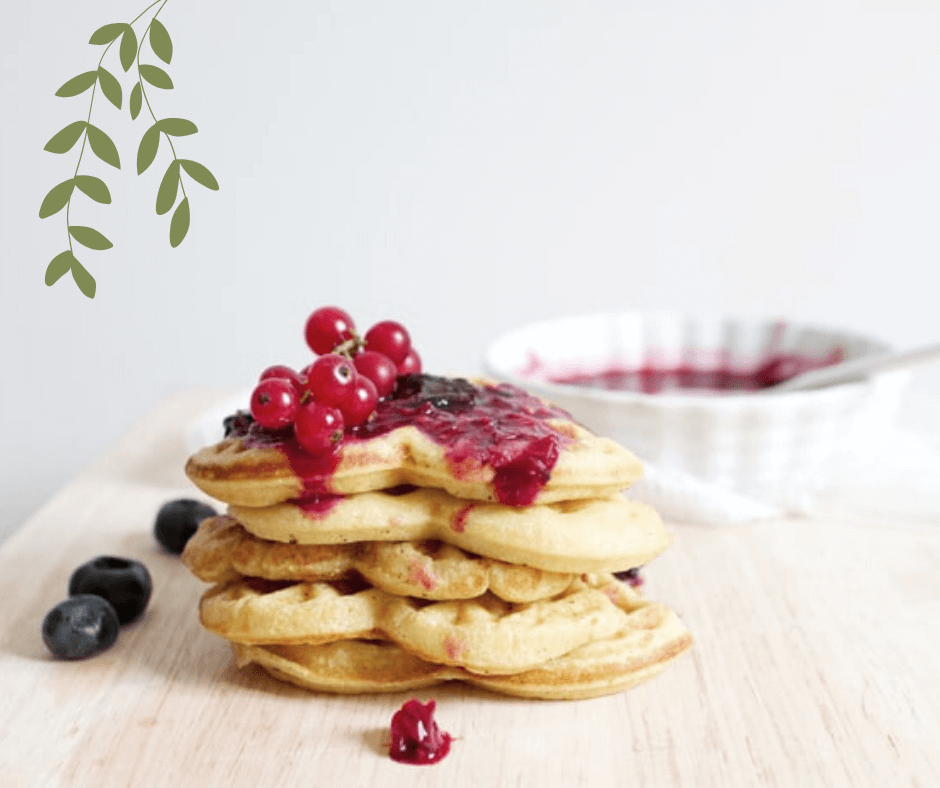 waffles ai mirtilli vegani