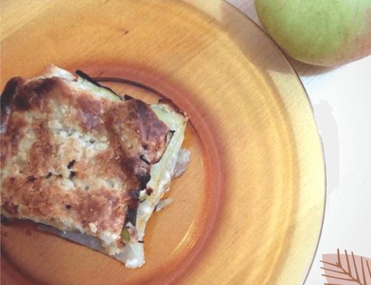 TORTA SALATA CON MELE, PATATE E ZUCCHINE
