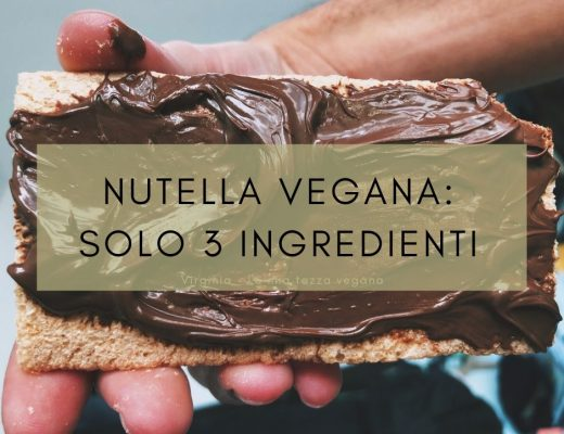 nutella vegana solo 3 ingredienti