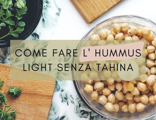 hummus senza tahina