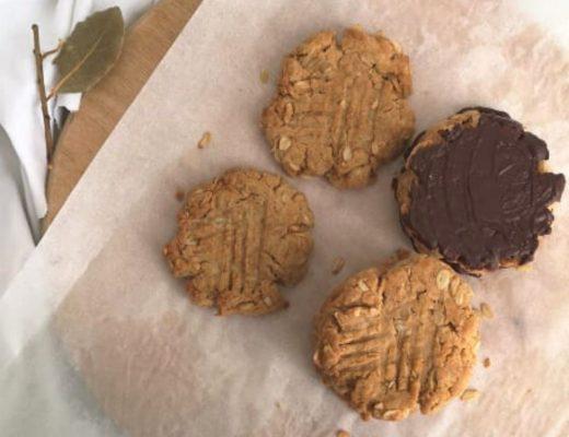 cookies al burro d'arachidi vegani
