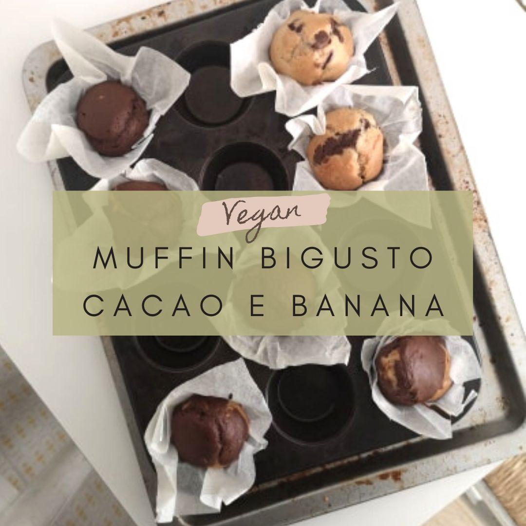muffin vegani bigusto cacao e banana