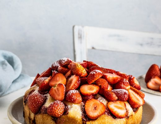 torta alle fragole e limone vegana